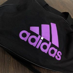 Purple adidas tote bag